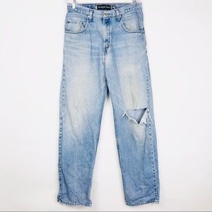 Levi's Silver Tab Straight + Loose Distressed Jean